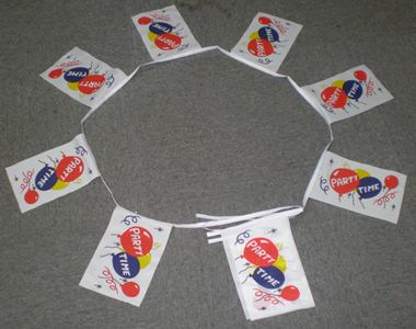 6m 20 Flag Party Time Bunting