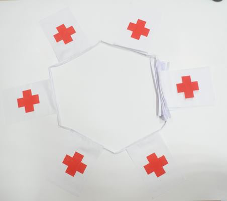 6m 20 Flag Red Cross Bunting