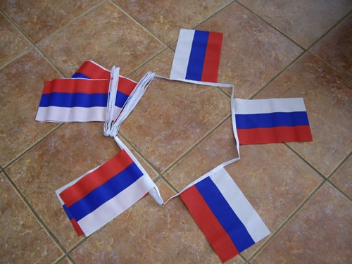 6m 20 Flag Russia Bunting