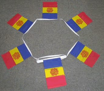 Andorra With Crest Bunting - 6 metres