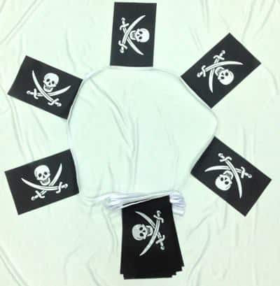 6m 20 Flag Jack Rackham (Pirate) Bunting