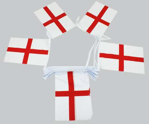 St George Cross Bunting (England) - 20 metres