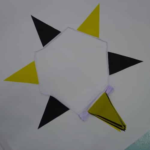 Black/Yellow Triangle Bunting - 20 metres