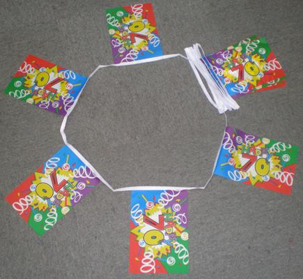 6m 20 Flag Happy 70th Birthday Bunting