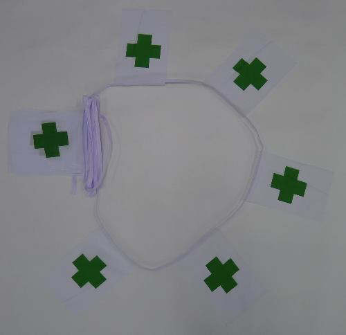6m 20 Flag Green Cross Bunting