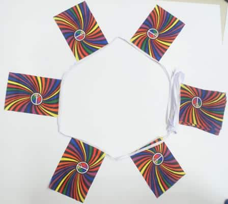 6m 20 Flag Rainbow Swirl (Gay Pride) Bunting