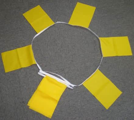 6m 20 flag Yellow bunting