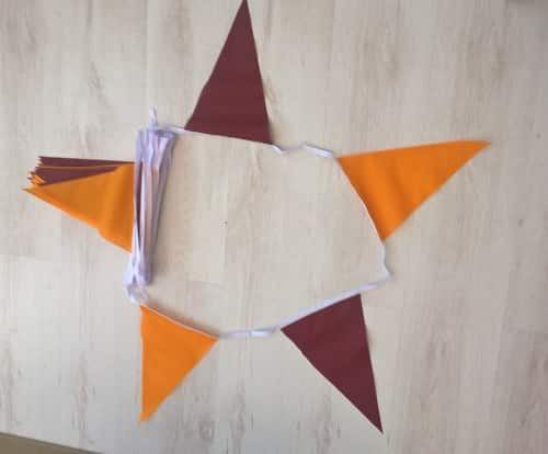Burgundy/Gold Triangle Bunting - 20 metres