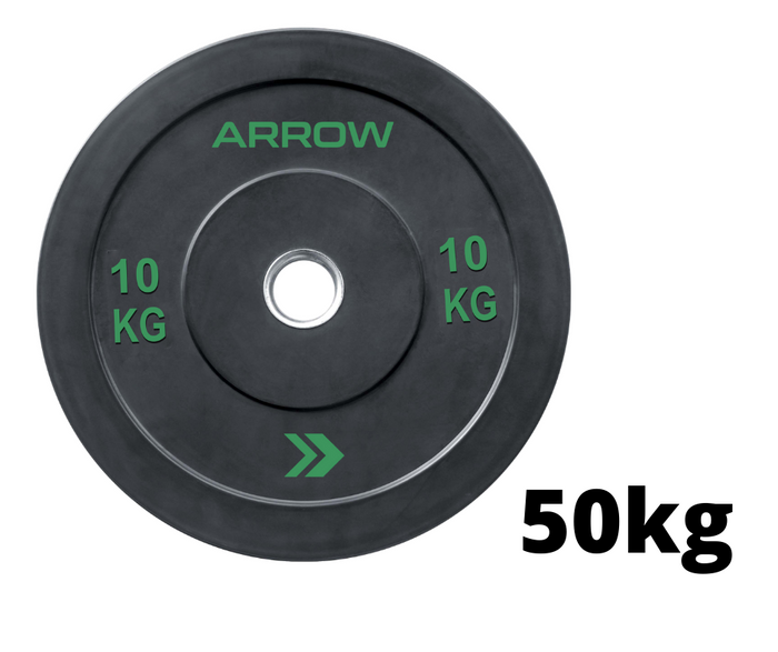 50KG ARROW Bumper Plate Package