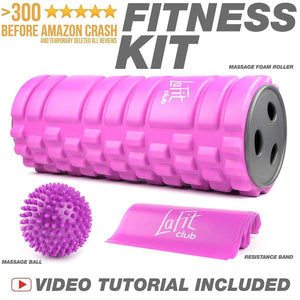 LA FIT Club Massage Roller Value Pack
