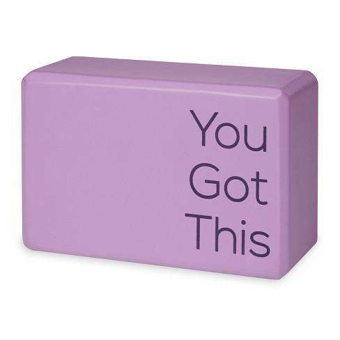 'You Got This' Yoga Block