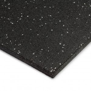 Arrow 1m x 1m 15mm Rubber Gym Flooring Tiles With Grey Fleck
