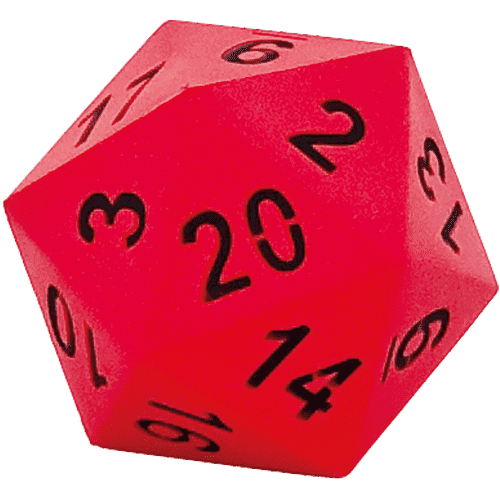 HART Sport 20 Sided Dice Red