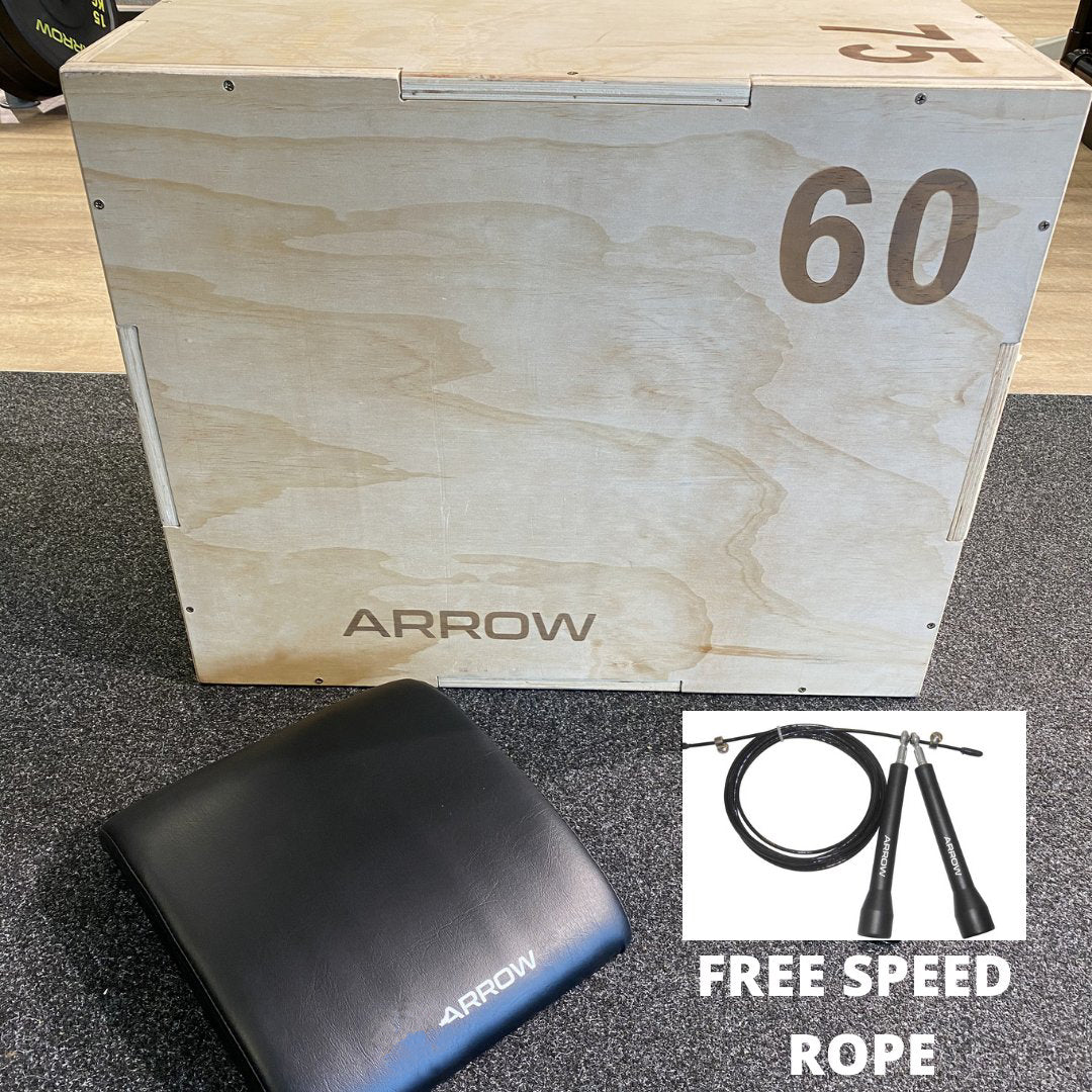 ARROW Home Plyometric Package + Free Speed Rope