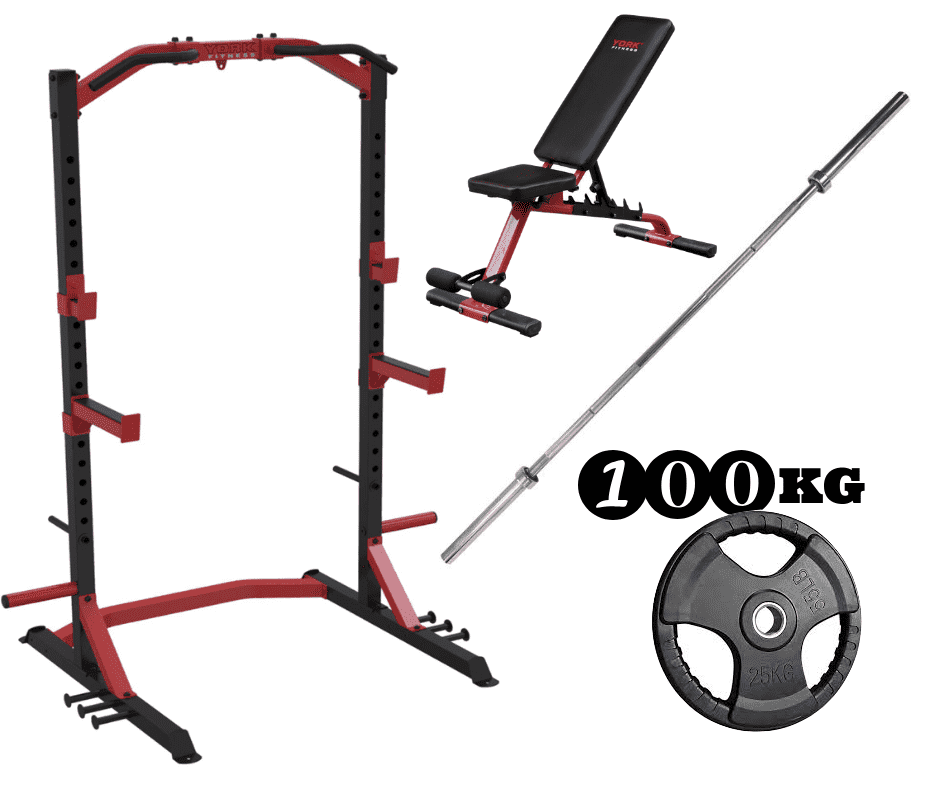 York Half Rack - Warrior Weightlifting Package