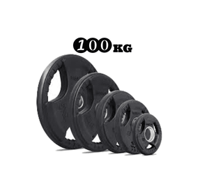 Rubber Coated Olympic Weight Plate - 100kg Package