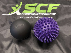 SCF Massage Ball Twin Pack  - With Carry Bag.
