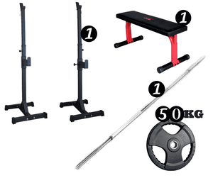 Standard Barbell + Bench Package
