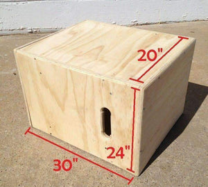 3 in 1 Wooden Plyo Box ( Flat Pack)