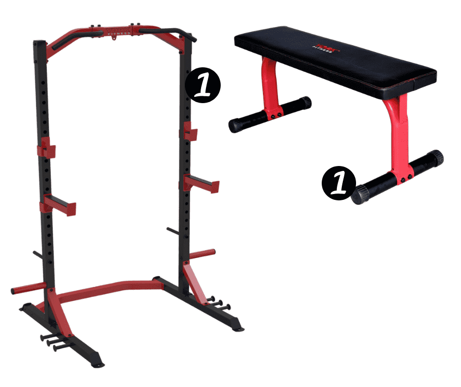 York Half Rack + Bench Package