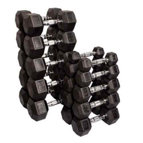5-30kg Rubber Hex DB Package (11PAIRS)
