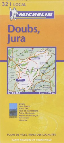 Michelin Doubs, Jura: Includes Plans For Besanon, Lons-Le-Saulnier (Michelin Local France Maps) (French Edition)