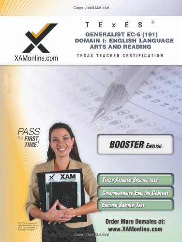 Texes Generalist Ec-6 191 English Language Arts And Reading Boost Edition