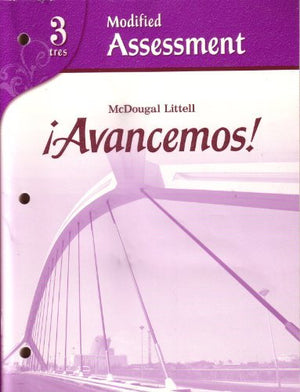 !Avancemos! 3, Modified Assessment