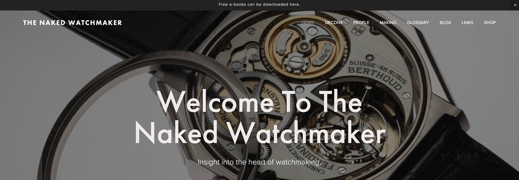 The Naked Watchmaker