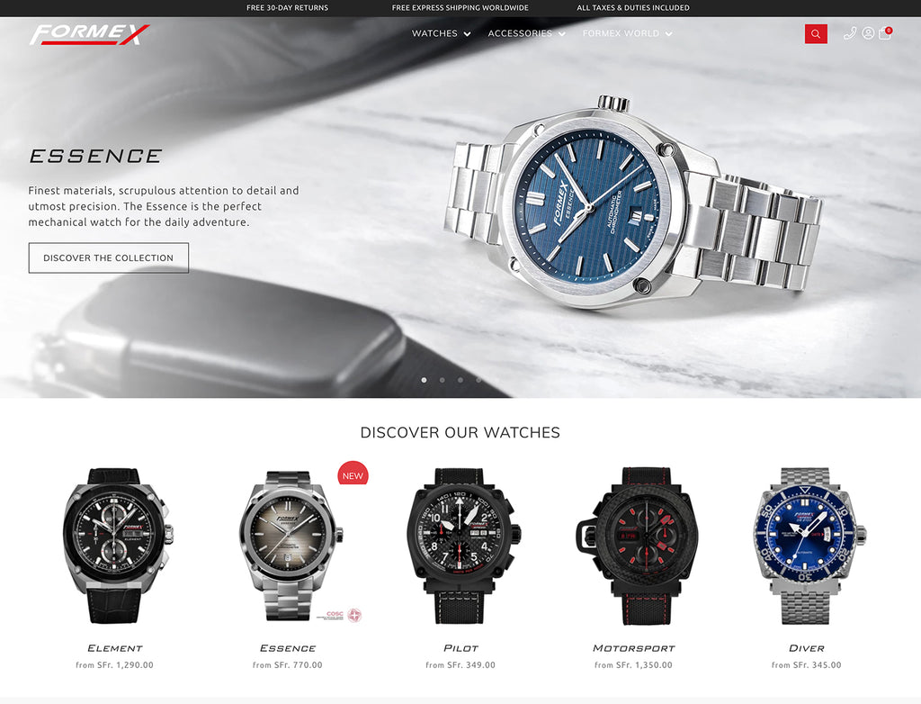 FORMEX Swiss Watches Online Store