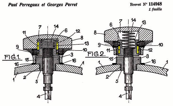 Early screw-down design by Perregaux and Perret