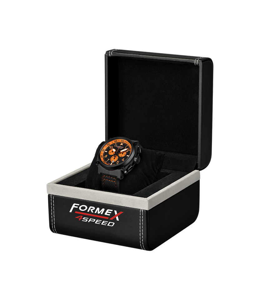 Quartz Chronograph Orange Black