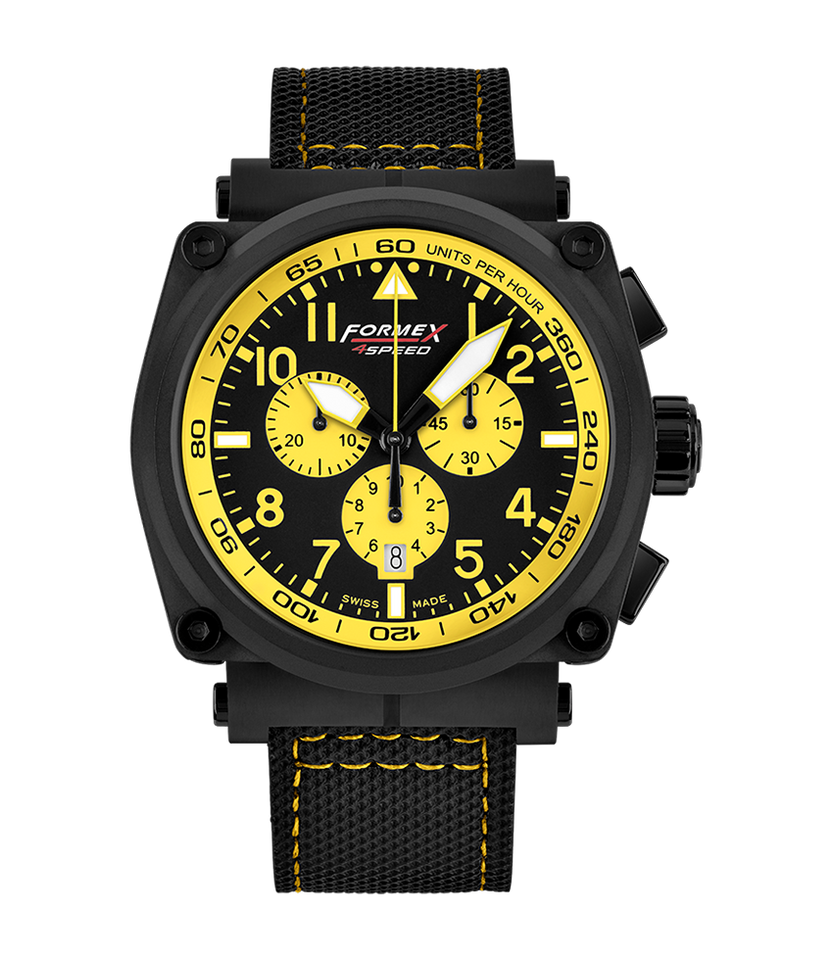 Quartz Chronograph Yellow Black