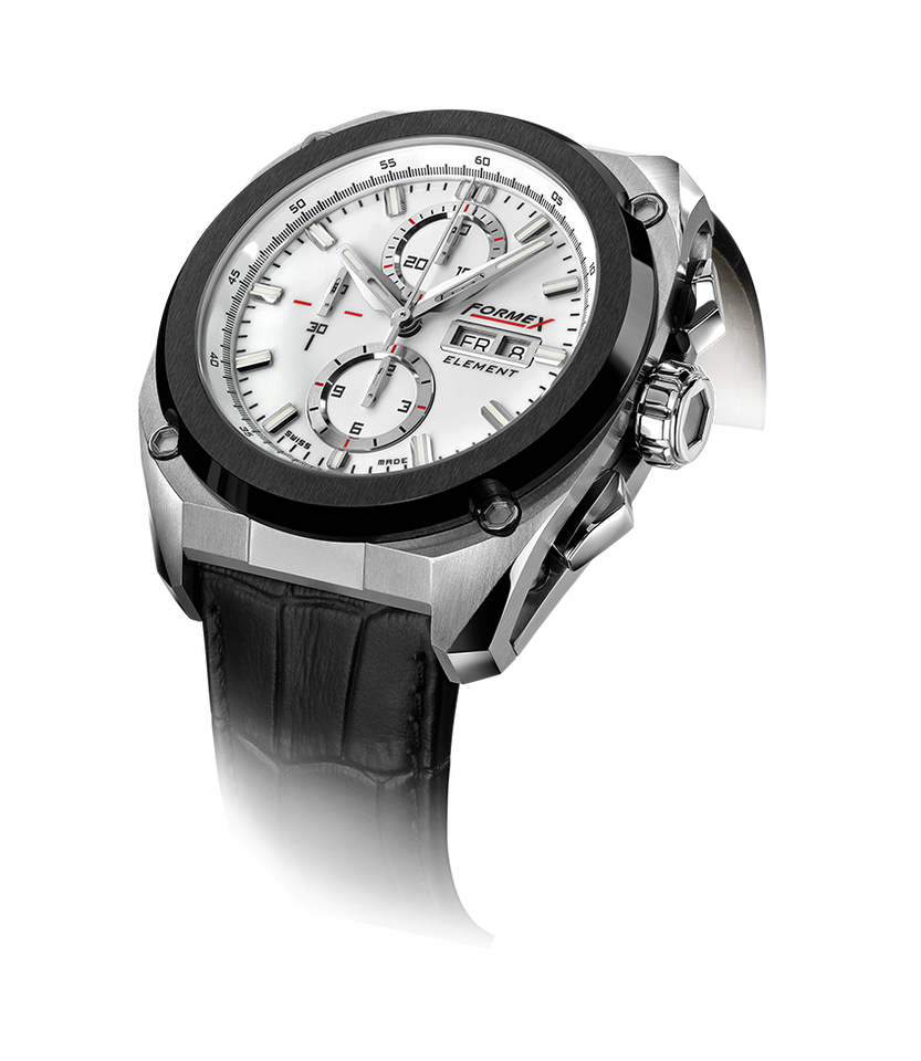 Automatic Chronograph Ceramic Bezel White