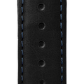 ESSENCE LEGGERA Black Leather Strap Blue Stitching (without clasp)