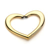 Heart purse hanger gold 22k