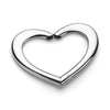 Heart purse hanger platinum