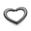 Heart purse hanger black