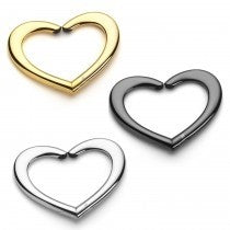 Heart - set of 3 purse hangers gold 22k, platinum  & black