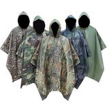 Outdoor Camo Raincoats Thicken Multifunction Mat/Light Blocking/Ghillie Suit Tactical Accessories Military Gear Hunting Cloak