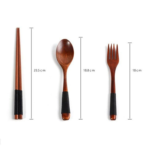 Portable Tableware Wooden Cutlery Sets - TOKYOSOUL