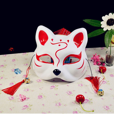 Japanese Kitsune Mask - Full Face Hand-painted (TANKENSURU SPECIAL)