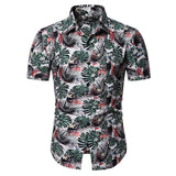 2019 Men Shirt Summer Style Print Beach Hawaiian Shirt Men Casual Short Sleeve Hawaii Shirt camisa masculina men shirt