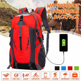 50L Usb Charging Travel Backpacks Waterproof New Fashion Sports Backpack Hiking Backpack Mountaineering Camping Shoulder Bags
