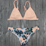 Sexy Swimsuit Women Bikinis Women's Bikini Cut Hawaii Two Piece Swimsuit Swimwear Pushups Swimwear Beachwear Bikini Set Bra New