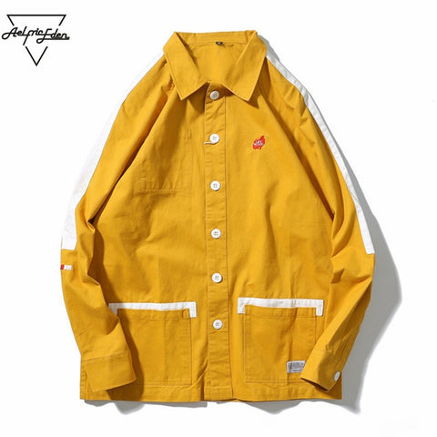 Japan Patchwork Yellow Skateboard Jacket (POPULAR ITEM)