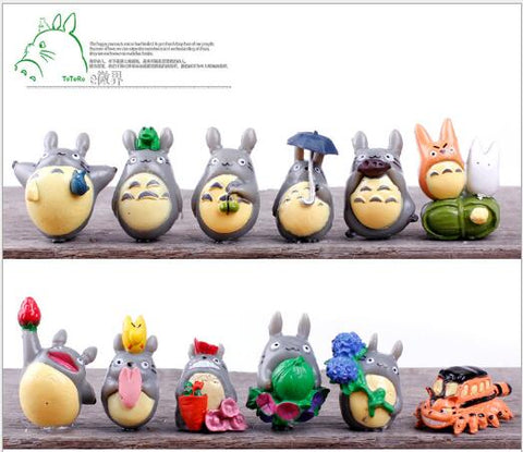 Totoro miniature Toy Set - 12 piece