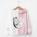 TOKYOSOUL Hearted Hoodies -  Black Pink Sweatshirt