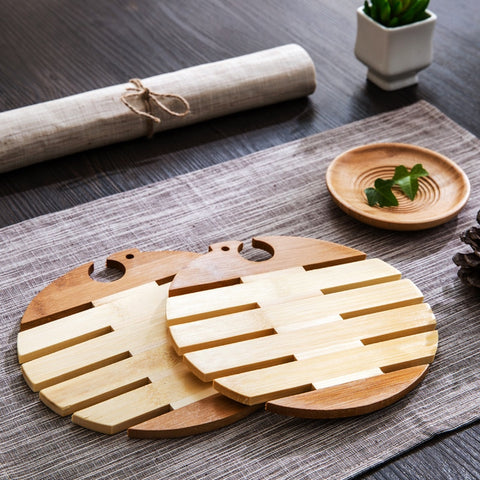 TokyoSoul- 4pcs Creative Bamboo Wooden Insulation Coaster