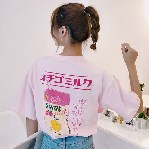 Strawberry Milk Box - Short Sleeve